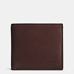 COIN WALLET IN SPORT CALF LEATHER - f75003 - MAHOGANY