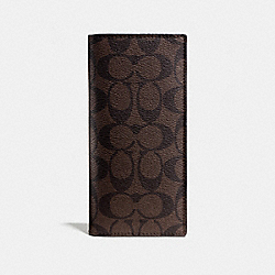 COACH BREAST POCKET WALLET IN SIGNATURE - MAHOGANY/BROWN - F75013