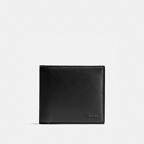 COACH DOUBLE BILLFOLD WALLET - BLACK - F75084