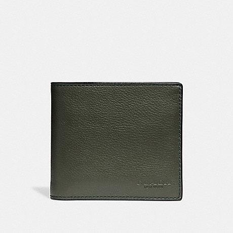 COACH DOUBLE BILLFOLD WALLET - DARK GREEN - f75084