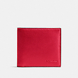 DOUBLE BILLFOLD WALLET - TRUE RED - COACH F75084