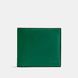 COACH DOUBLE BILLFOLD WALLET - GREEN/BLACK ANTIQUE NICKEL - F75084