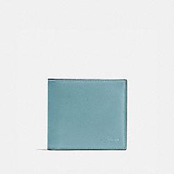 COACH DOUBLE BILLFOLD WALLET - CLOUD/BLACK ANTIQUE NICKEL - F75084