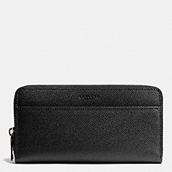 COACH ACCORDION WALLET IN CROSSGRAIN LEATHER - BLACK - F75097