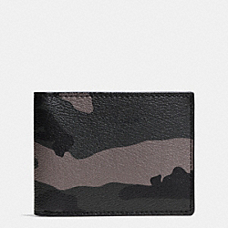 SLIM BILL ID IN CAMO COATED CANVAS - E83 - COACH F75103