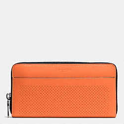 COACH ACCORDION WALLET IN PERFORATED LEATHER - ORANGE - F75222