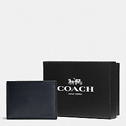 BOXED SLIM BILLFOLD ID WALLET - MIDNIGHT - COACH F75305