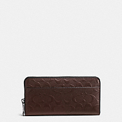 COACH ACCORDION WALLET IN SIGNATURE CROSSGRAIN LEATHER - MAHOGANY - F75372