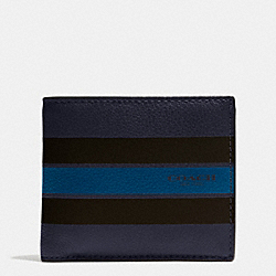 COIN WALLET IN VARSITY LEATHER - f75394 - MIDNIGHT NAVY