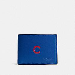 MLB SLIM BILLFOLD WALLET - CHI CUBS - COACH F75435