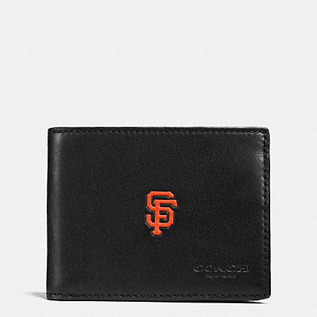 COACH MLB SLIM BILLFOLD WALLET - SF GIANTS - F75435