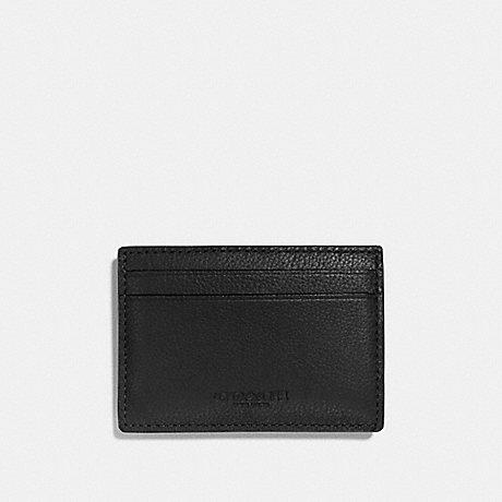 COACH MONEY CLIP CARD CASE - BLACK - F75459