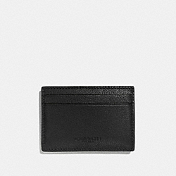 COACH MONEY CLIP CARD CASE IN CALF LEATHER - BLACK - F75459
