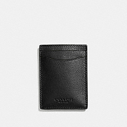COACH BOXED 3-IN-1 CARD CASE IN SMOOTH CALF LEATHER - BLACK - F75479