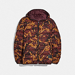 REVERSIBLE DOWN JACKET WITH HOOD - RCM/MAH - COACH F75748