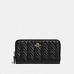 ACCORDION ZIP WALLET WITH QUILTING - IM/BLACK - COACH F75802