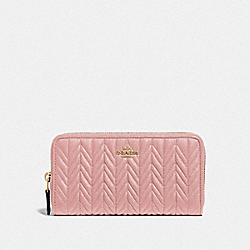 ACCORDION ZIP WALLET WITH QUILTING - IM/PINK PETAL - COACH F75802