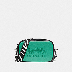 JES CONVERTIBLE BELT BAG IN COLORBLOCK - GREEN/SILVER - COACH F75907