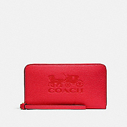 JES LARGE PHONE WALLET - IM/BRIGHT RED - COACH F75908