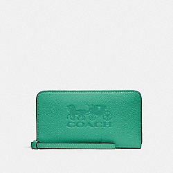 LARGE PHONE WALLET - GREEN/SILVER - COACH F75908