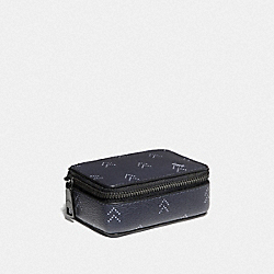 PILL BOX WITH DOT ARROW PRINT - NAVY/MULTI - COACH F75916