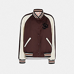 REVERSIBLE SOUVENIR JACKET - BORDEAUX/PINK - COACH F76052