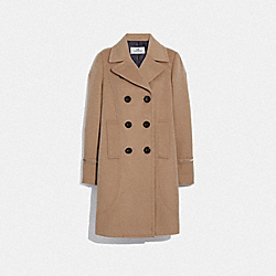 TAILORED WOOL COAT - LIGHT CAMEL - COACH F76250