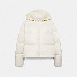 SHORT PUFFER - CREAM - COACH F76281