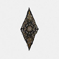 CHELSEA SILK DIAMOND SCARF - BLACK - COACH F76445