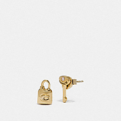 LOCK AND KEY STUD EARRINGS - GOLD - COACH F76461