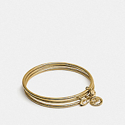 HORSE AND CARRIAGE BANGLE SET - CHALK/GOLD - COACH F76466