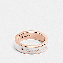 COACH PLAQUE RING - CHALK/ROSEGOLD - COACH F76467