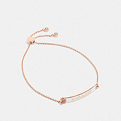 COACH PLAQUE SLIDER BRACELET - CHALK/ROSEGOLD - COACH F76469