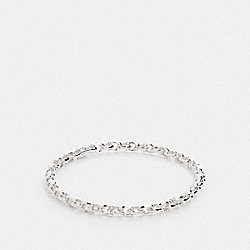 SIGNATURE LINK BANGLE - SILVER - COACH F76475