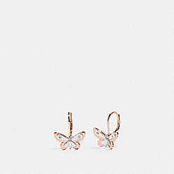BUTTERFLY LEVERBACK EARRINGS - SV/ROSEGOLD - COACH F76481