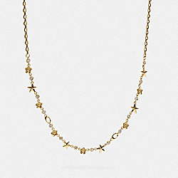 FLORAL STAR NECKLACE - GOLD - COACH F76483