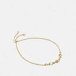 FLORAL STAR SLIDER BRACELET - GOLD - COACH F76484