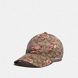 SIGNATURE PRAIRIE DAISY PRINT HAT - KHAKI - COACH F76487