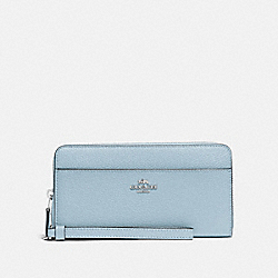 ACCORDION ZIP WALLET - SV/PALE BLUE - COACH F76517