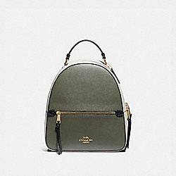 JORDYN BACKPACK IN COLORBLOCK - MILITARY GREEN MUTLI/GOLD - COACH F76623