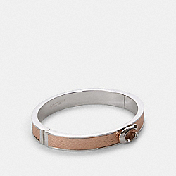 PUSH SIGNATURE HINGED BANGLE - ROSE GOLD/SILVER - COACH F76634