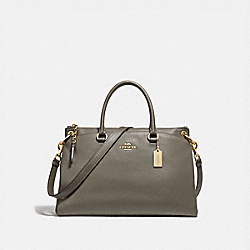 MIA SATCHEL - MILITARY GREEN/GOLD - COACH F76640