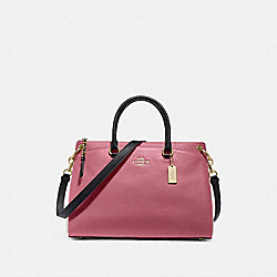 MIA SATCHEL IN COLORBLOCK - ROUGE MULTI/GOLD - COACH F76641