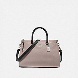 MIA SATCHEL IN COLORBLOCK - GREY BIRCH MULTI/SILVER - COACH F76641