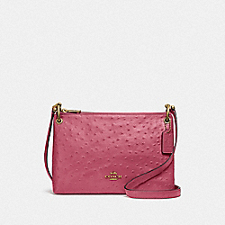 MIA CROSSBODY - ROUGE/GOLD - COACH F76644