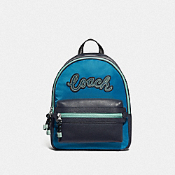 VALE BACKPACK - CERULEAN MULTI/SILVER - COACH F76647