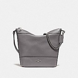 SMALL PAXTON DUFFLE - HEATHER GREY/SILVER - COACH F76668