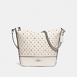 SMALL PAXTON DUFFLE WITH RIVETS - CHALK/SILVER - COACH F76671