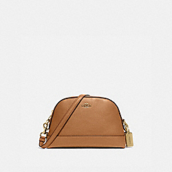 DOME CROSSBODY - IM/LIGHT SADDLE - COACH F76673