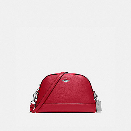 COACH DOME CROSSBODY - SV/BRIGHT CARDINAL - F76673